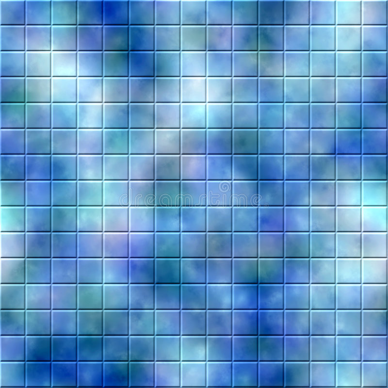Mosaic Tile Background. Colorful background mosaic design of shiny tile boxes or cubes in blue, pink and green mottled tones. Can be tiled seamlessly vector illustration