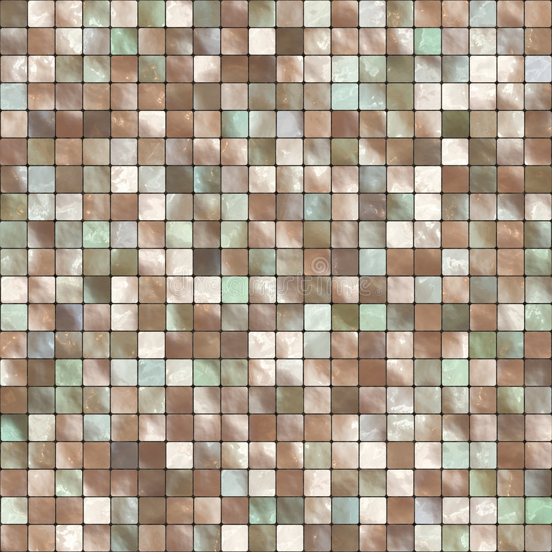 Mosaic Tile Background. Colorful background mosaic design of shiny tile boxes or cubes. Can be tiled seamlessly stock illustration