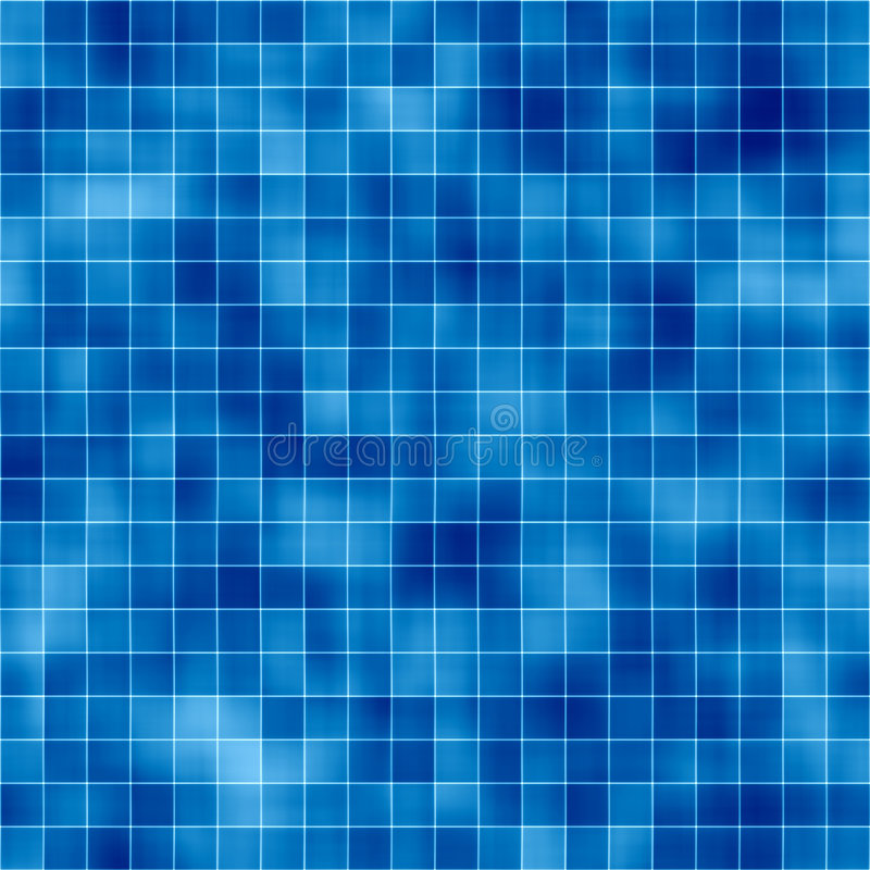 Mosaic Tile Background. Background mosaic design of shiny tile boxes or cubes in various blue mottled tones. Can be tiled seamlessly royalty free illustration