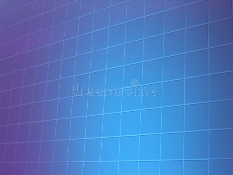 Mosaic tiles. A blue lit tiled wall royalty free stock image