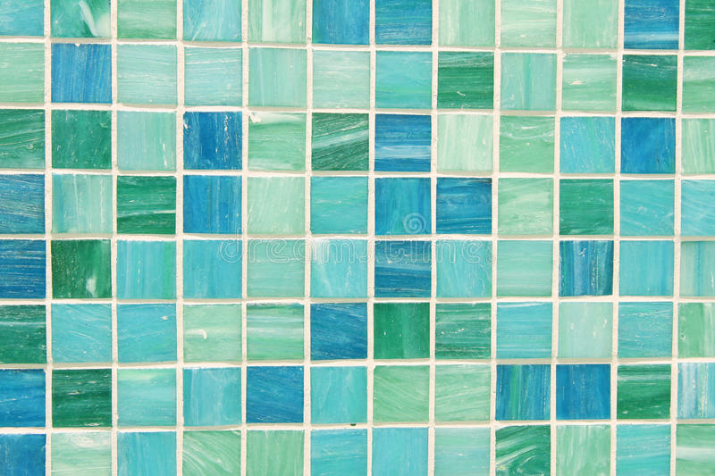 Mosaic Tiles In Green Turquoise Blue Stock Image Image