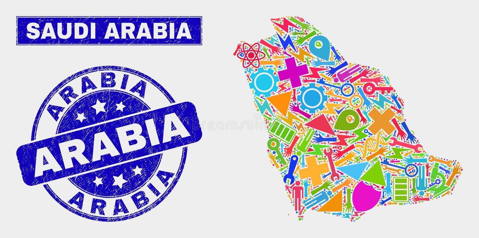 Saudi Arabia Map Stock Illustrations – 3,359 Saudi Arabia