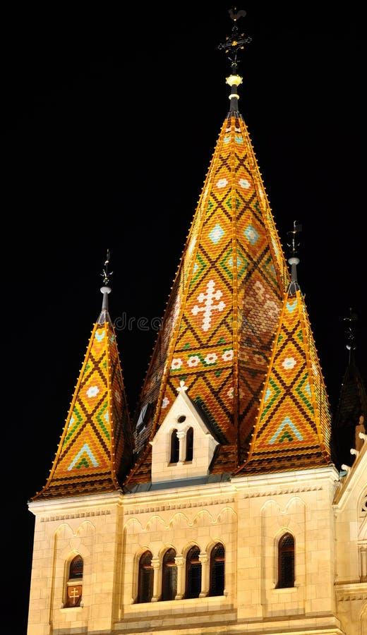 Mosaic tower of Matthias church royalty free stock image