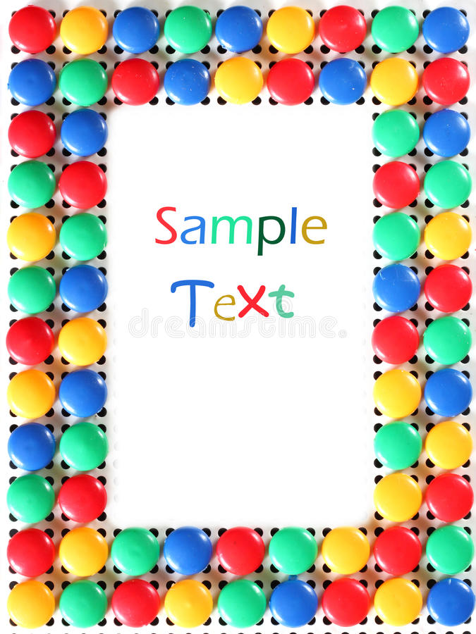 Mosaic toy frame. Colorful children mosaic toy frame royalty free stock photo