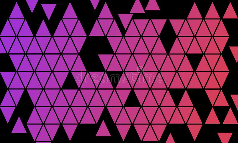 Mosaic Triangle Purple Violet Pink Color Gradient Background - Digital Illustration Abstract Wallpaper Colorful. Template royalty free illustration