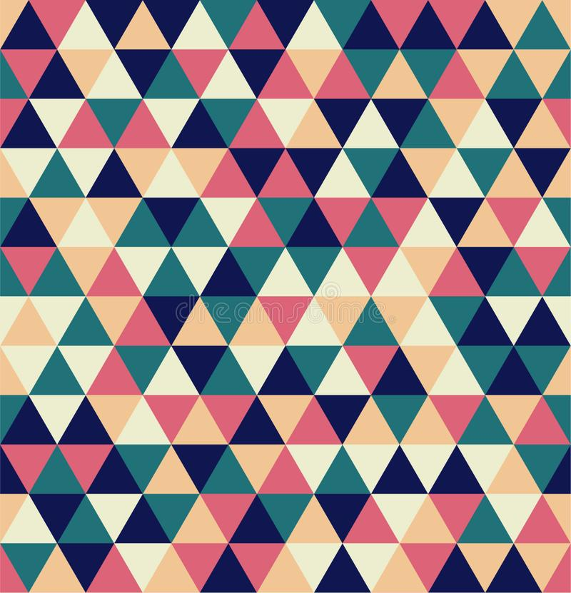 Mosaic of various shades of navy blue, peach, teal and pink. Seamless pattern royalty free stock image