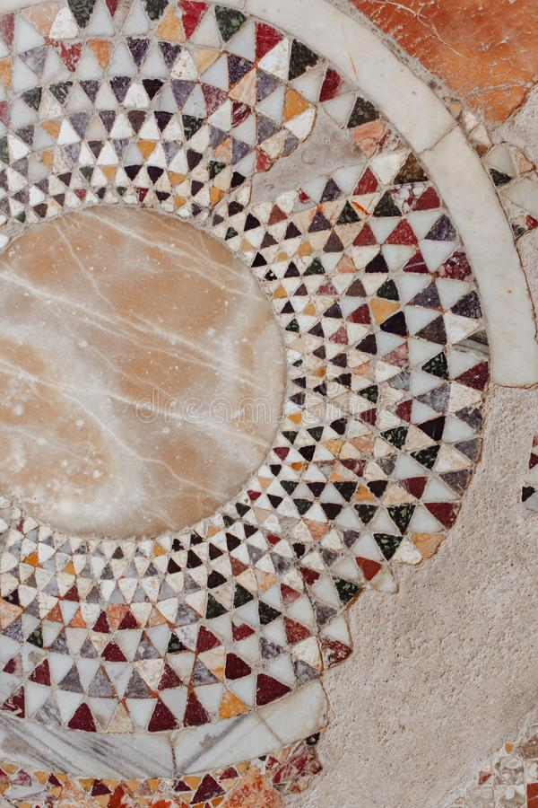 Mosaic Wall Decorative Ornament from Ceramics Tile stock images