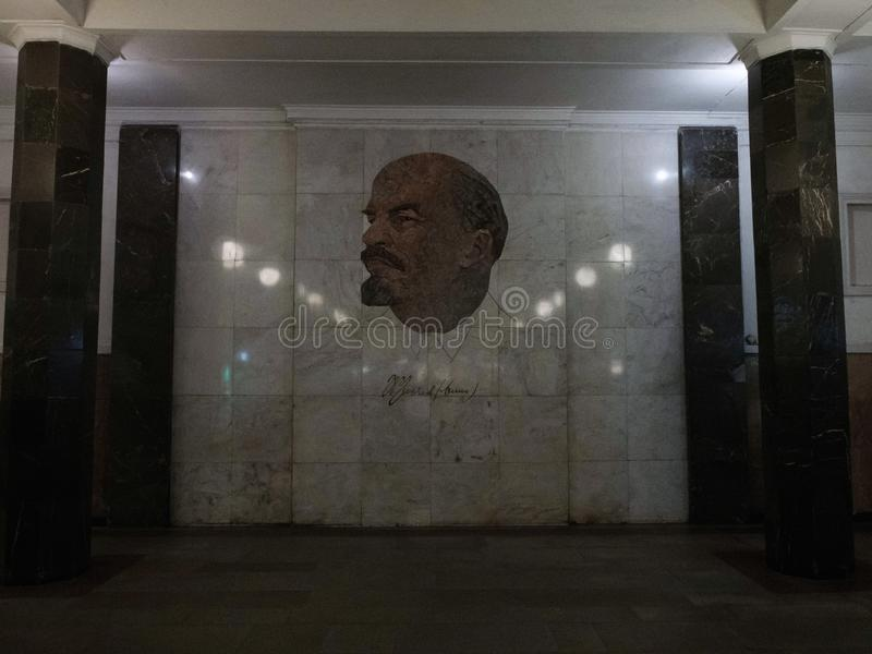 Mosaical portrait of Lenin royalty free stock photography