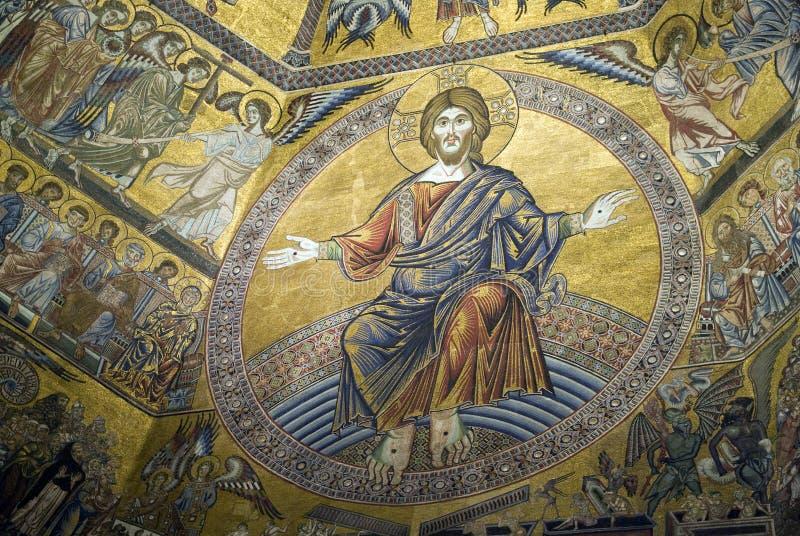 Mosaici del soffitto di Florence Baptistery immagine stock