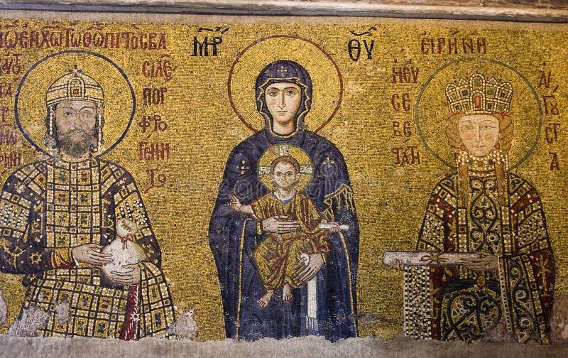 Mosaici di Comnenos fotografia stock libera da diritti