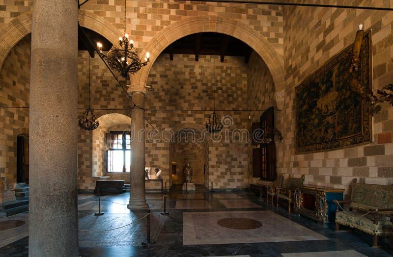 Mosaici nel palazzo del palazzo Rodi dei gran maestri immagine stock
