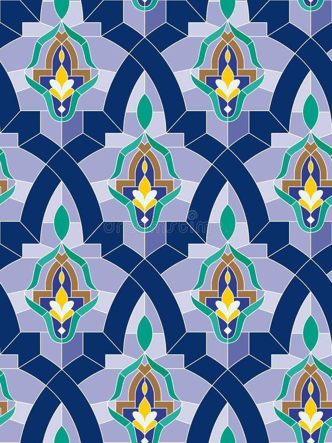 Mosaico árabe sem emenda ilustração do vetor
