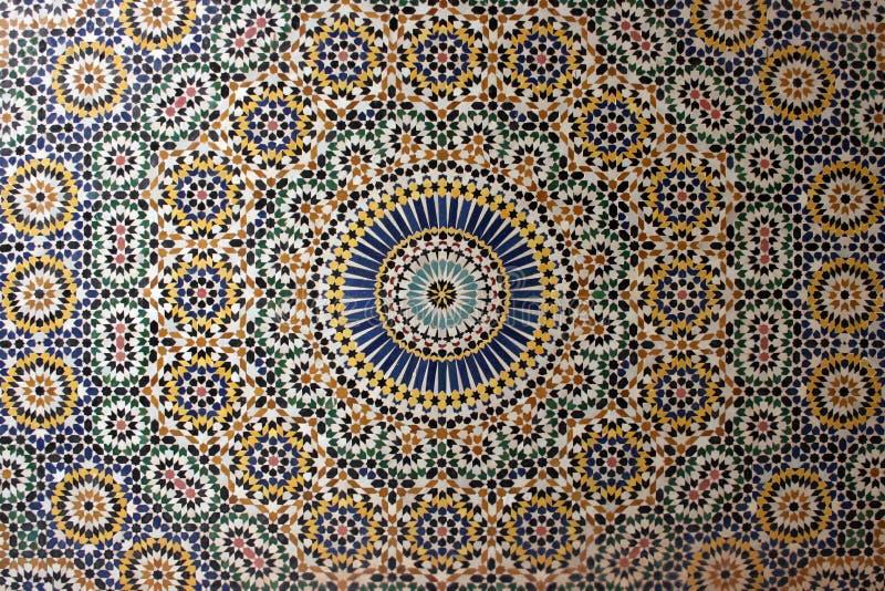 Mosaico árabe velho fotografia de stock royalty free
