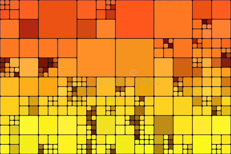 Mosaico abstracto de la luz anaranjada libre illustration