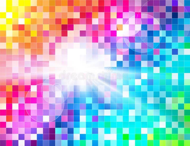 Mosaico abstracto del espectro stock de ilustración