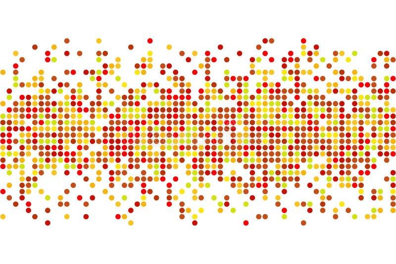 Mosaico abstrato do outono - vector o fundo do espaço da cópia dos círculos ilustração do vetor