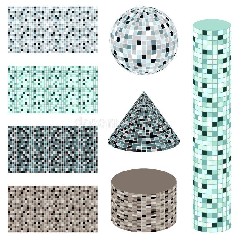 Mosaico abstrato - jogo do vetor ilustração stock