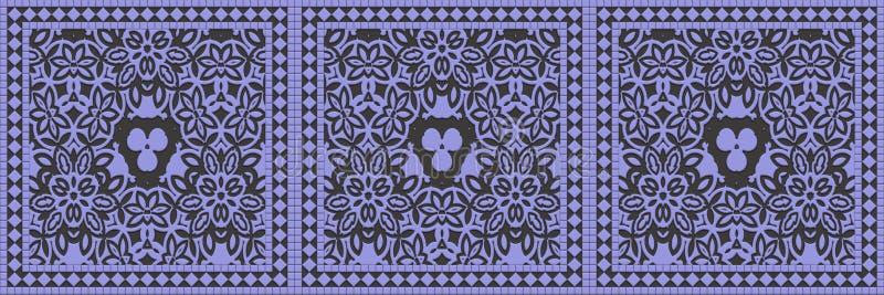 Mosaico acristalado de mosaico sin fisuras- Muro de decoración de ilustración 3d. Plantilla de invitación de granito imagenes de archivo