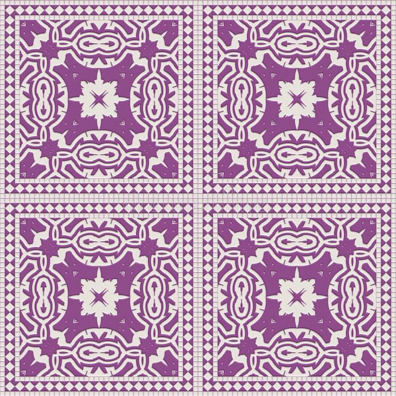 Mosaico acristalado de mosaico sin fisuras- Muro de decoración de ilustración 3d. Plantilla de la invitaci?n del arte del granit imágenes de archivo libres de regalías