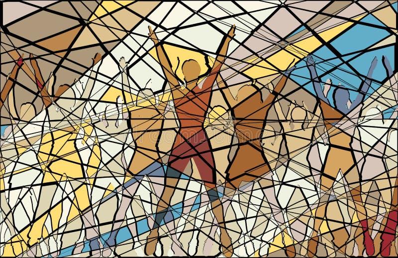 Mosaico aerobio ilustración del vector