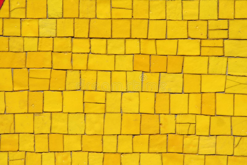 Mosaico amarillo fotografía de archivo libre de regalías