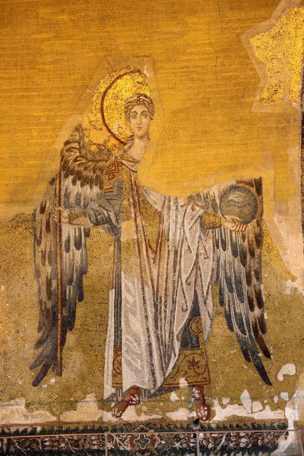 Mosaico antiguo de un ángel fotografía de archivo