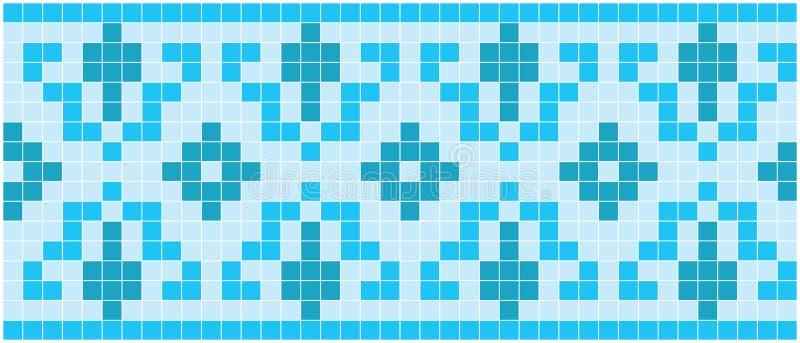 Mosaico azul ilustração do vetor
