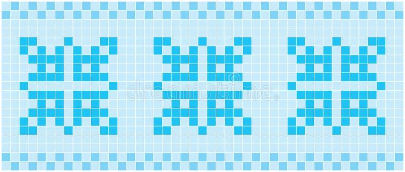 Mosaico azul ilustração royalty free