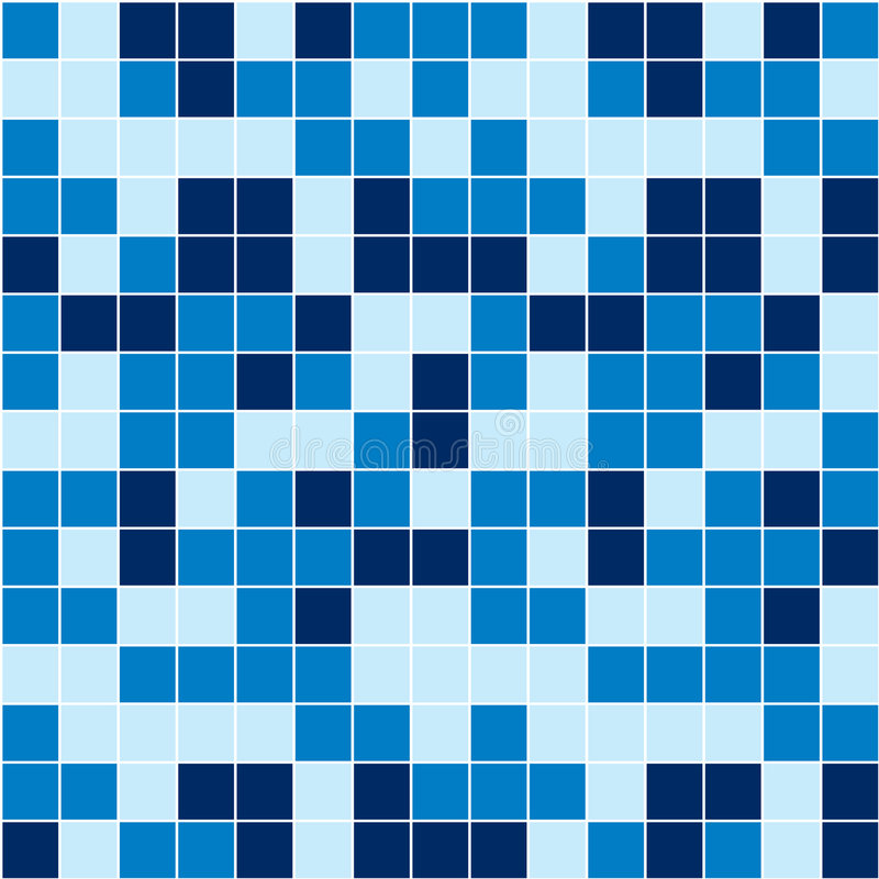 Mosaico azul ilustração stock