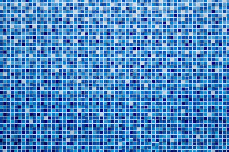 Mosaico azul de la baldosa cerámica fotografía de archivo