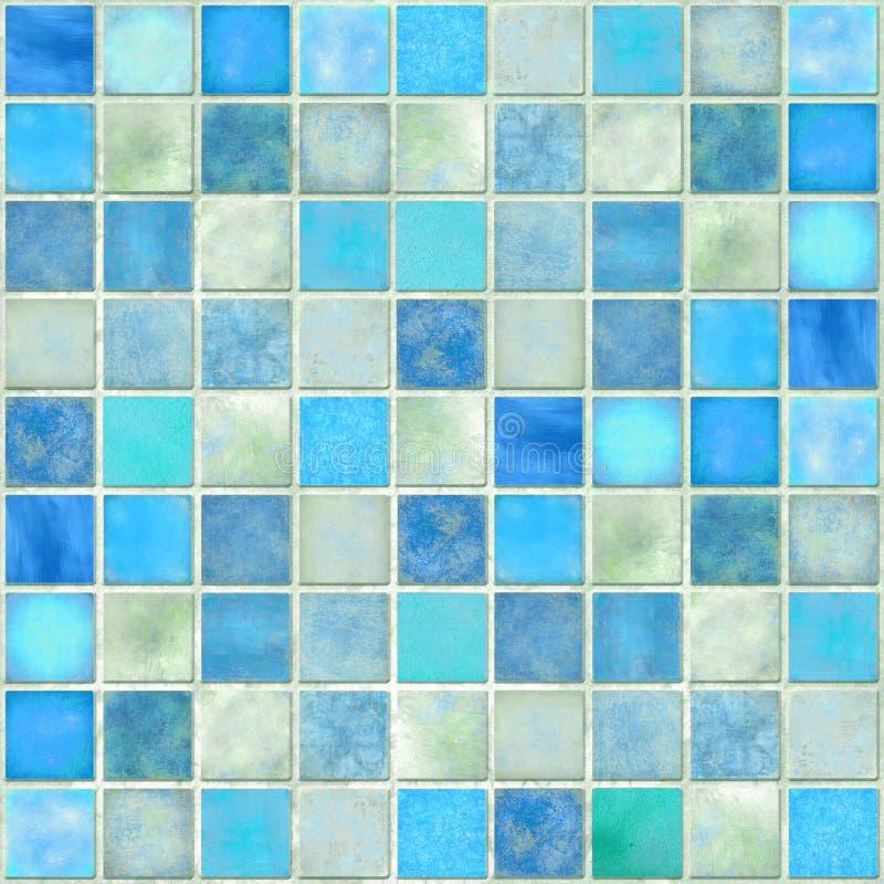 Mosaico azul del azulejo fotos de archivo libres de regalías