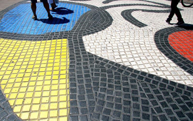 Mosaico Barcelona de Rambla del La fotografía de archivo