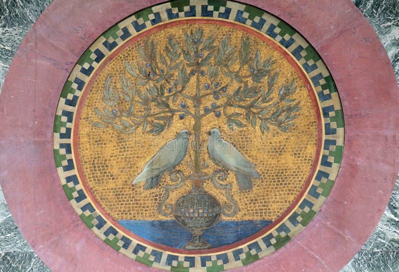 Mosaico, basílica del santo Paul Outside las paredes, Roma fotos de archivo
