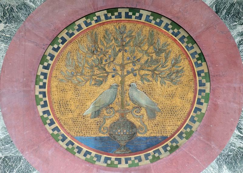 Mosaico, basílica del santo Paul Outside las paredes, Roma fotografía de archivo