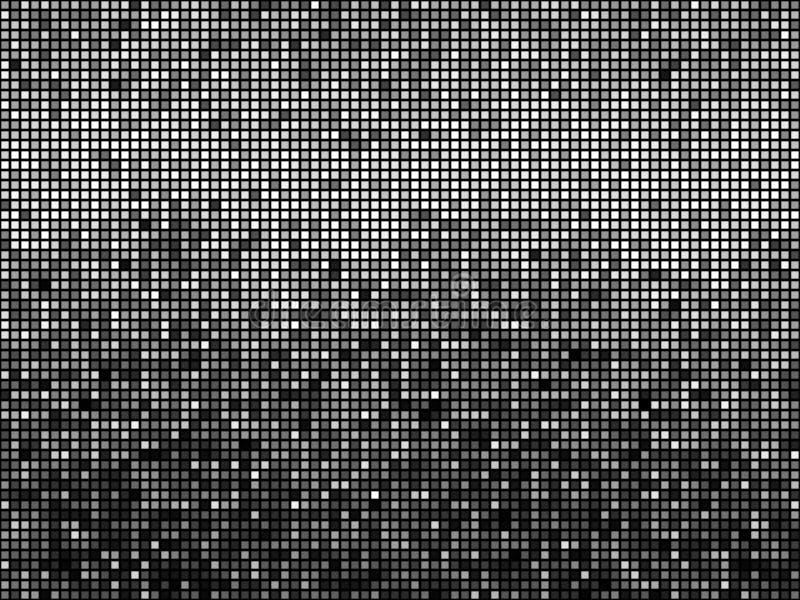 Mosaico blanco y negro ilustración del vector