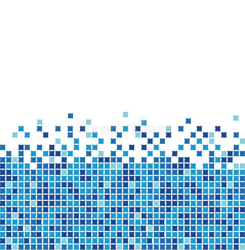 Mosaico blu illustrazione vettoriale