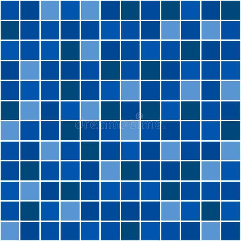 Mosaico blu fotografia stock