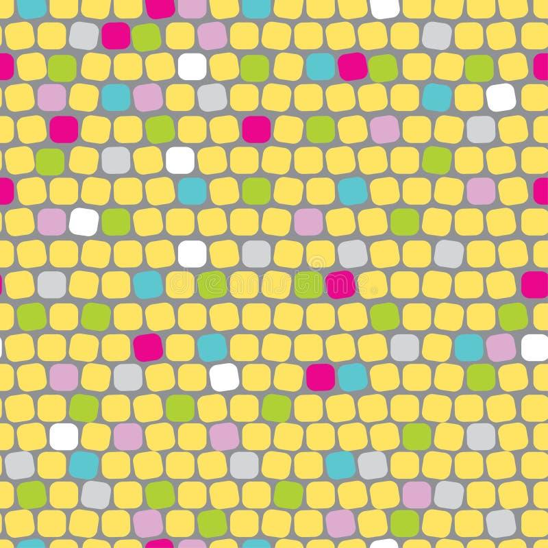 Mosaico bonito sem emenda ilustração stock