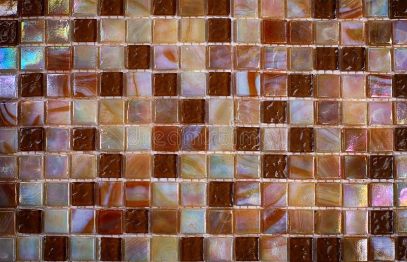 Mosaico brilhante do vidro do nácar da mistura imagem de stock
