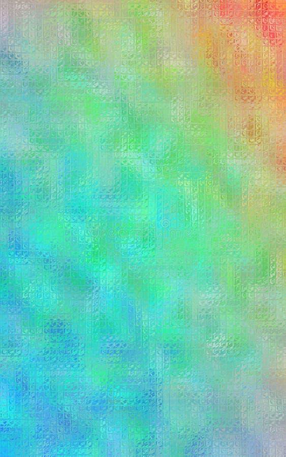 Mosaico brillante de la naranja, verde y azul a través del ejemplo vertical del fondo de los ladrillos de cristal libre illustration