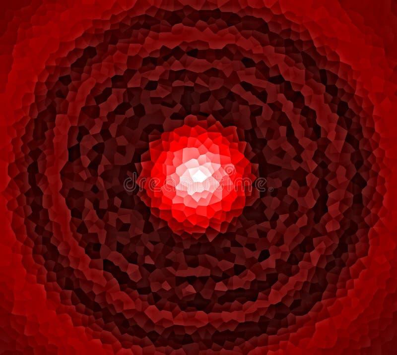 Mosaico circular rojo foto de archivo libre de regalías