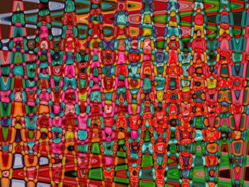 Mosaico colorido ilustração royalty free