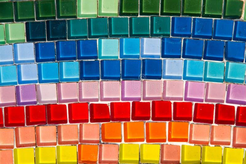 Mosaico colorido usado para solar y la pared imagenes de archivo
