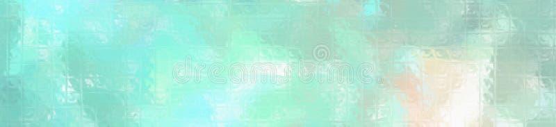 Mosaico colorido verde y anaranjado a través de los ladrillos de cristal en el ejemplo del fondo de la forma de la bandera ilustración del vector