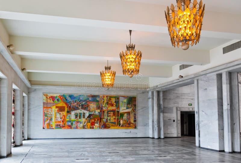 Mosaico in comune - Oslo Norvegia immagine stock