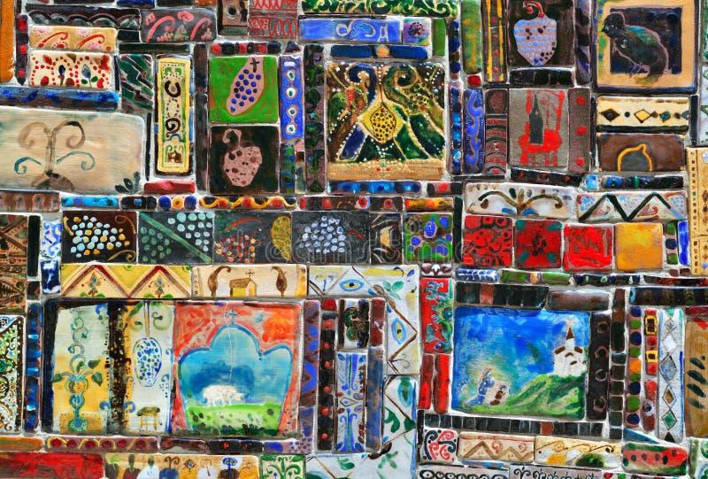 Mosaico d'annata fotografie stock
