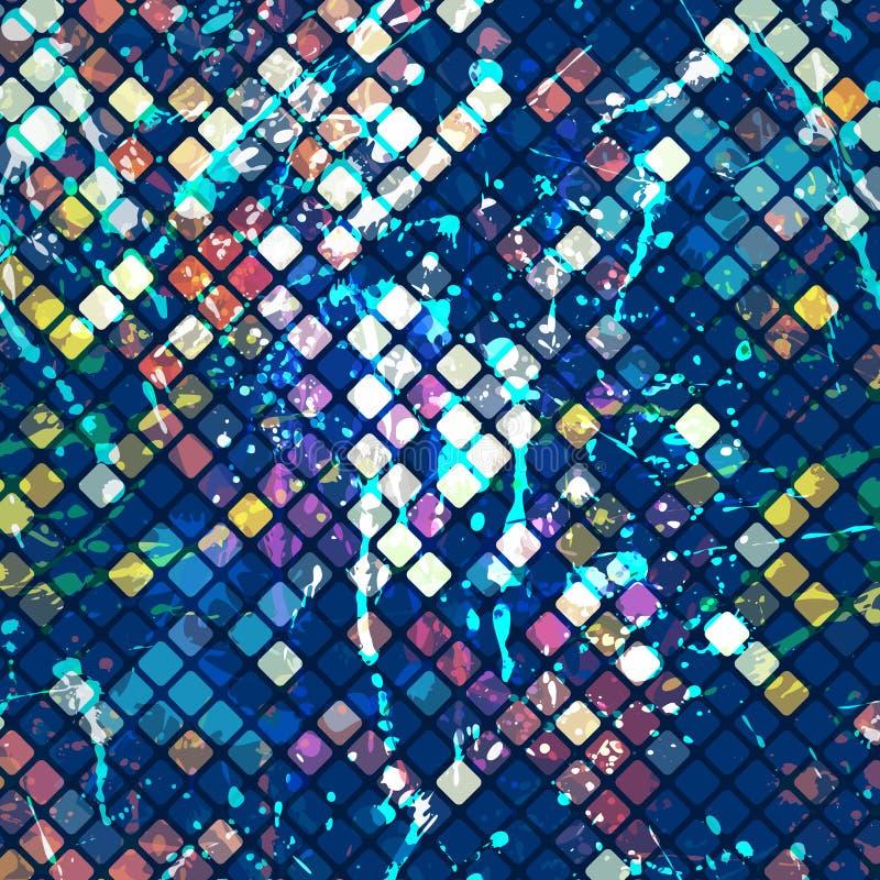 Mosaico da aquarela ilustração stock