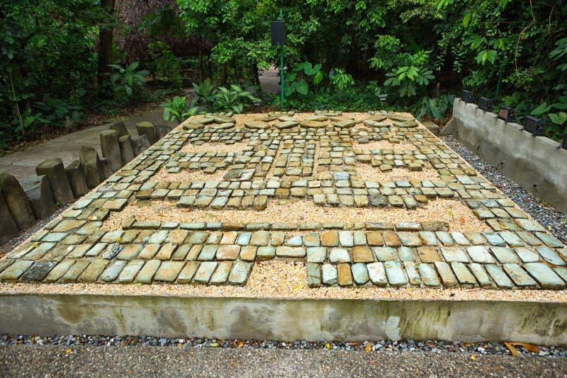 mosaico da pedra do olmec do Pre-hispânico em México fotografia de stock royalty free