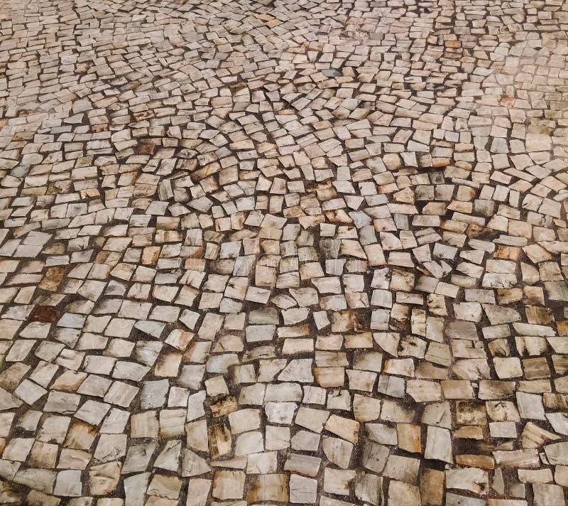 Mosaico da telha, arte em Rio de janeiro Brazil Textura abstrata Papel de parede do telefone imagem de stock royalty free