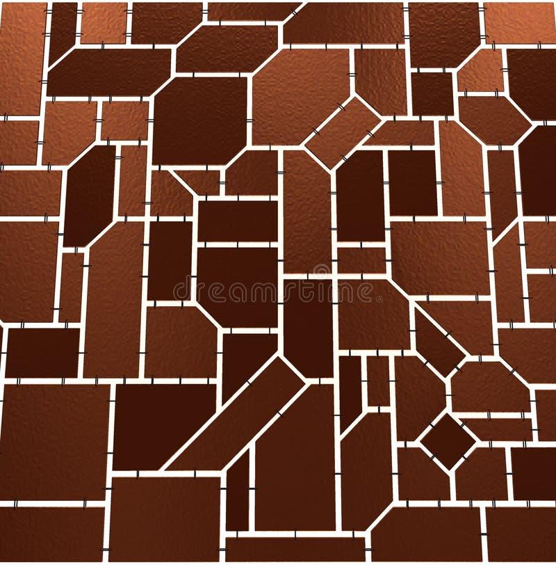Mosaico de Brown ilustração do vetor